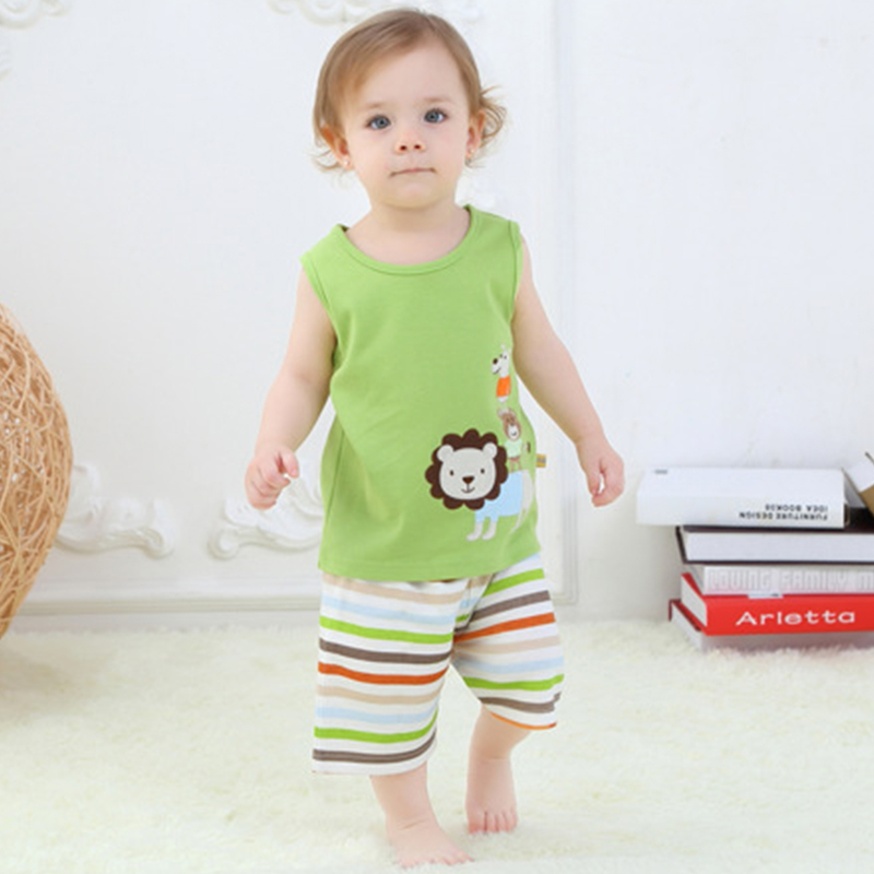 Age0 3 T shirt Short Pants Little Lion Pattern New Style