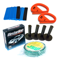 Car Wrap Kits 4 PC Magnet Holder / 2 PC Squeegees /2 PC Vinyl Cutter/ 1 PC Knifeless Tape Pro Installation Tools