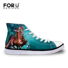 FORUDESIGNS მამაკაცები შემოდგომაზე შემთხვევითი ტილოს ფეხსაცმელი 3D მაგარი ცხენის ნიმუში მაღალი ვულკანური ფეხსაცმელი კაცისთვის დასვენება ფეხსაცმელი თინეიჯერი ბიჭები
