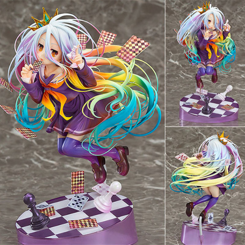 20cm Anime Life No Game No Life figure Shiro 1/8 playing cards ver. PVC action figure collection model toys for gift