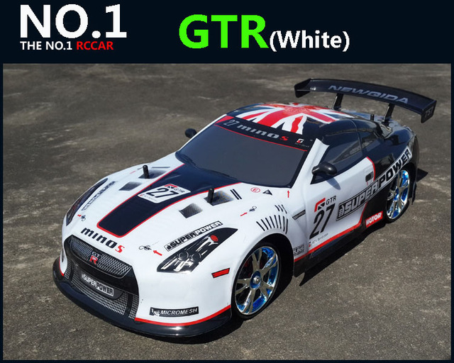 Large RC Car 1:10 High Speed Racing Car For Nissan GTR Championship 2.4G 4WD Radio Control Sport Drift Racing  electronic toy 2