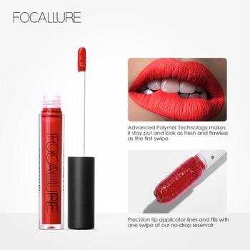 Focallure glitter Matte Liquid Lipstick 25color Lip gloss Lip Tint Cosmetic Lipstick not sticky Sexy Nude Makeup 4