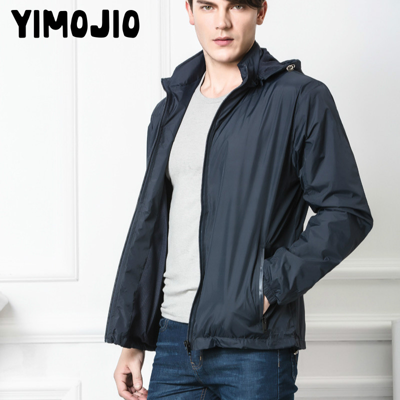 Mens   Trench   Coat 2018 Mens Long Coat Thin Casual Coat Men Solid Rib Sleeve Male   Trench   Style Outside Wind Coat Gym Quick Drying