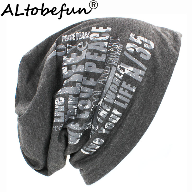 ALTOBEFUN Autumn Winter Warm Hats For Women Men Fashion Lady Letter Design   Skullies     Beanies   For Girl Hot Feminino Cap HT905