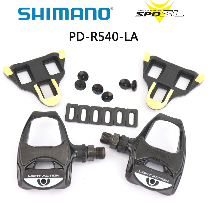 ad2e74875b9 SHIMANO PD-R540 LA Road bicycle pedal Light Action SPD-SL Bike Pedals  Include SM-SH11 Self-locking Cleats Shimano genuine Pedal