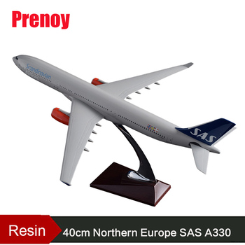 40cm Resin SAS A330 Aircraft Airplane Model Scandinan Airbus Northern Europe Airline Aviation Model A330 SAS Airbus Airway Plane