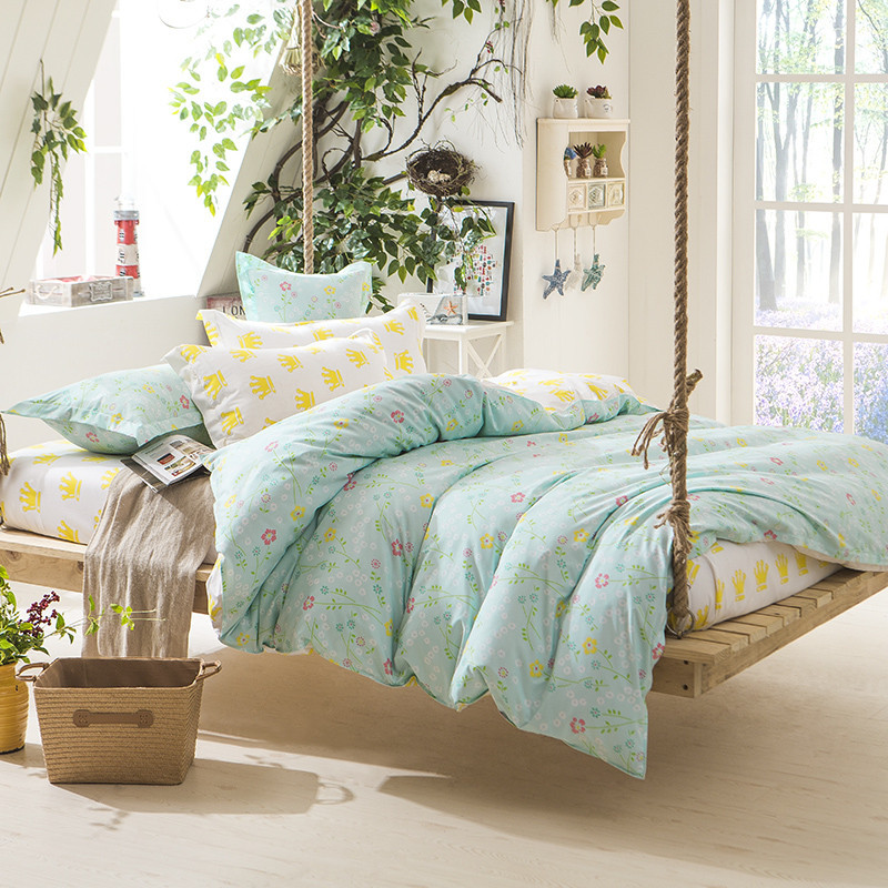 3 Piece Reactive Printing Bedding Set Duvet Cover King Size Queen Size Bed Quilt Cover Bed Sheet Set Terylene Duvet Quilt Cover