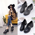 2017 весна новый стиль Британский ретро обувь с круглой головой, толстые с, обувь одного, мода диких женская обувь