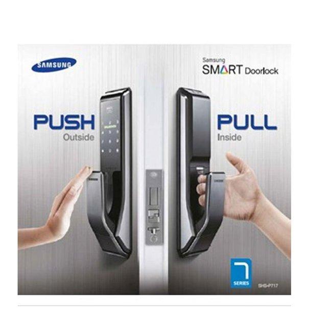 Samsung smart keyless deadbolt digital door lock | bunnings warehouse.