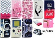 Funny Design Camera Cartoon Bear Stand Leather Wallet Case for Samsung Galaxy S3 GT-i9300 Neo DUOS i9300i Flip Covers Phone Bags