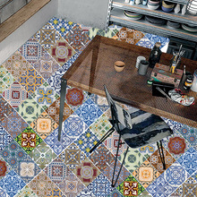 Arab style ceramic tile sticks retro wallpaper to live in living room bedroom kitchen adornment