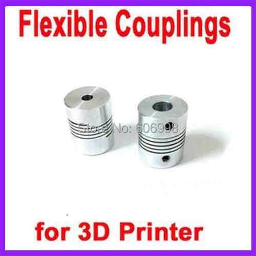5pcs/lot 3D Printer Stepper Motor Flexible Coupling Coupler /Shaft Couplings 5 Mm*8mm**25 Mm , Free Shipping