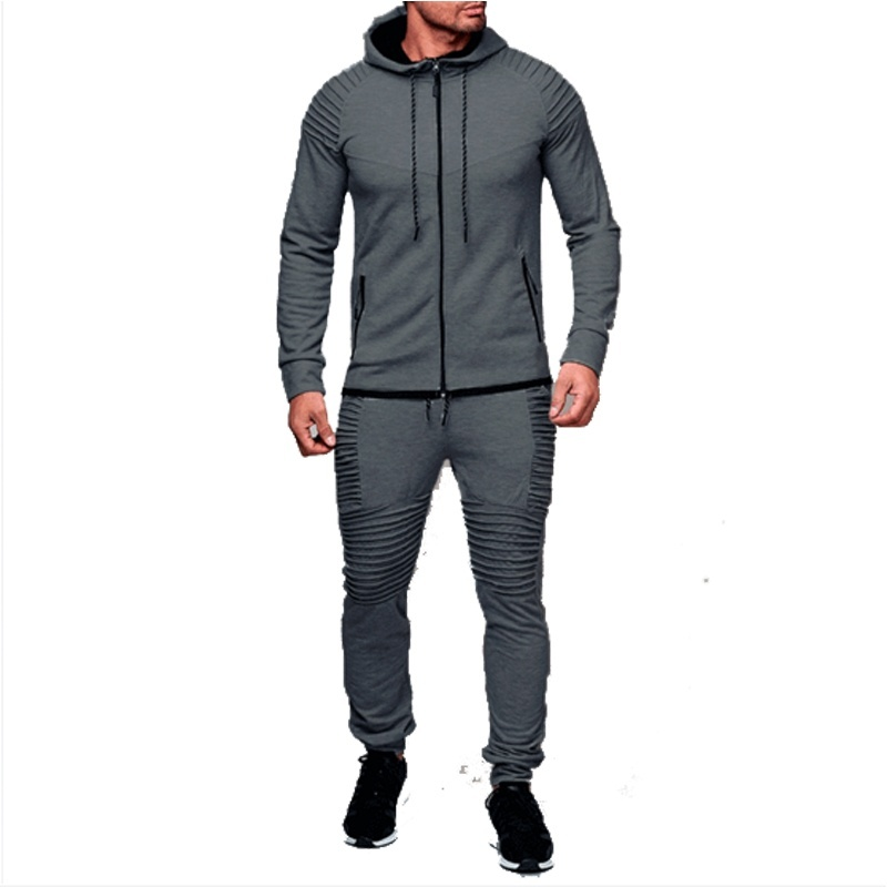 ZOGAA Brand Men Tracksuits Jogger Sets 2 Piece Hoodies Sweatshirts And Pant Set Casual Solid Men Sweat Suit SportSweatsuits