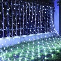 880 LED 6m 4m LED Mesh String Light Outdoor Waterproof Net Holiday Light For Christmas Weddings