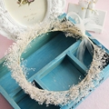 beautiful Immortal flowers garland elegant wreath women hair ornament bridal headdress wholesale prom