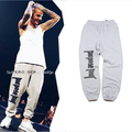 hip hop latex urban sport gym clothing clothes joggers purpose tour Justin bieber dress pants men grey jogging sweat sweatpants