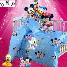 Promotion! 3PCS  Cartoon baby crib bedding set cotton material jogo de cama crib bumper,Duvet Cover/Sheet/Pillow Cover
