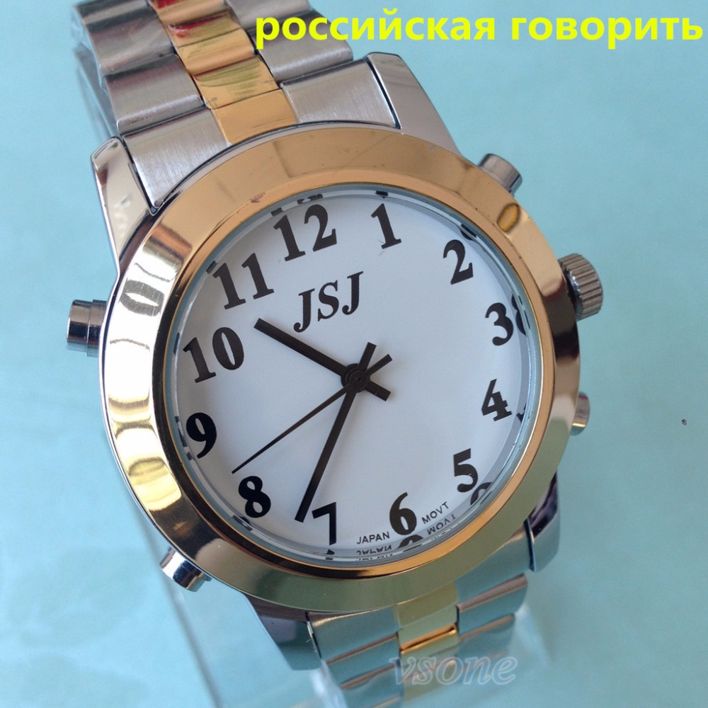 Russian Talking Wrist Watch with Alarm Pyccknn for Blind People Or Low Vision все цены
