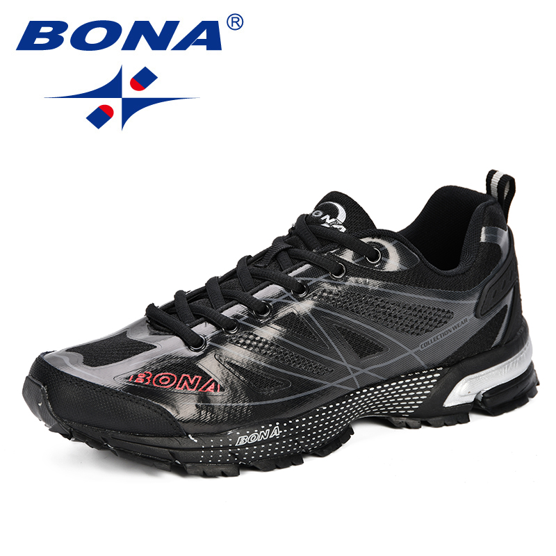 BONA New Fashion Outdoor Men Casual Shoes Trendy Comfortable 2019 Mens Sneakers Breathable Lightweight Man Walking