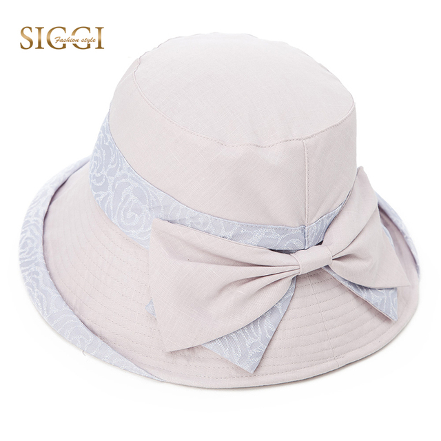 7b6272df1b23a SIGGI Women Sun Hat Summer Bucket chapeu feminino praia chapeau femme Girl  linen cotton UV upf 50 cap foldable Packable 89037