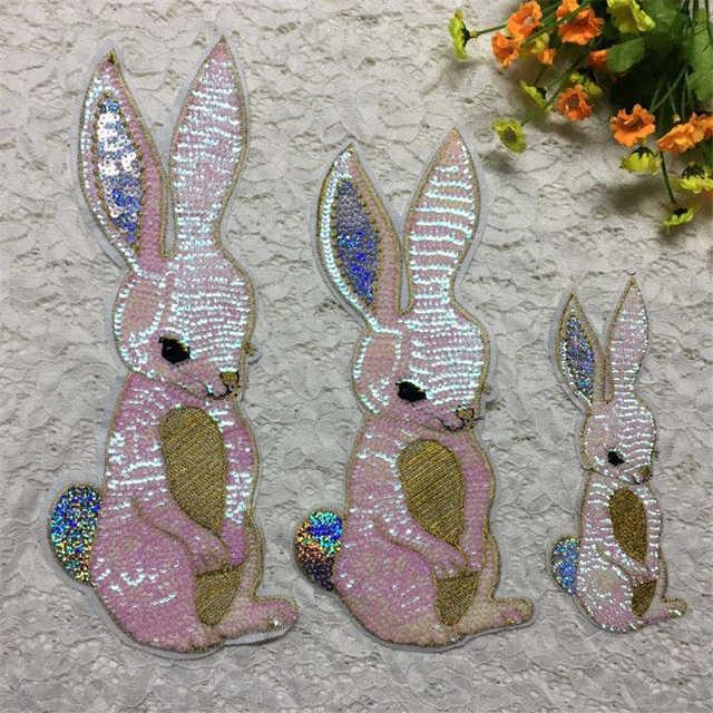 DoreenBeads Kaninchen Tier Muster Patches Pailletten Langen Ohren ...