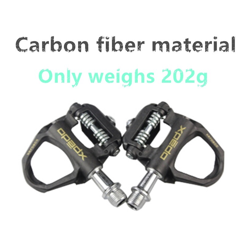 2018 NEW Professional racing grade road bike carbon fiber material lock pedal triathlon ultra light high quality bicycle pedal new fsaeaston carbon fiber bicycle parts about a pair of pedal