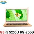 13.3 inch Core I5 5200U 5Gen 8GB Ram 256GB SSD aluminium ultrabook laptop computer battery USB 3.0