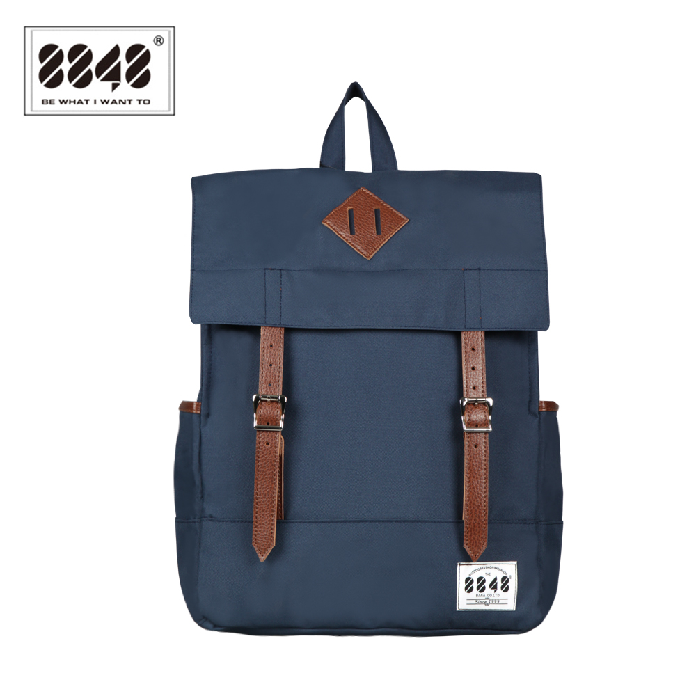 8848 Fashion Women Canvas Backpack Blue Waterproof Schoolbags 15.6 Inch Laptop Rucksack Teenager School Bagpack Mochila D002-1