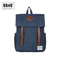 8848 Western Fshion Polyester Hasp Navy Women Backpack School Bags Laptop Bags Women Travel Bags Free