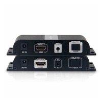 Новый hdbitt HDMI удлинитель по sc оптический Волокно поддержка 1080 P HDCP до 20 км передатчик и приемник с адаптеры питания