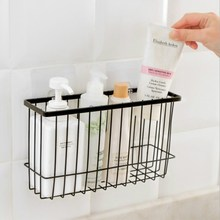 Kitchen Wrought Iron Storage Basket Simple Racks Spice Rack Bathroom Desktop Box