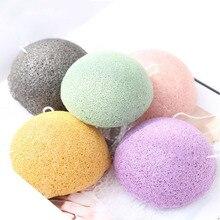 Shinbay konjac natural esponja para rosto de lavagem redondo konjac konnyaku esponja lote limpeza facial esfoliador banho sopro 100 pçs