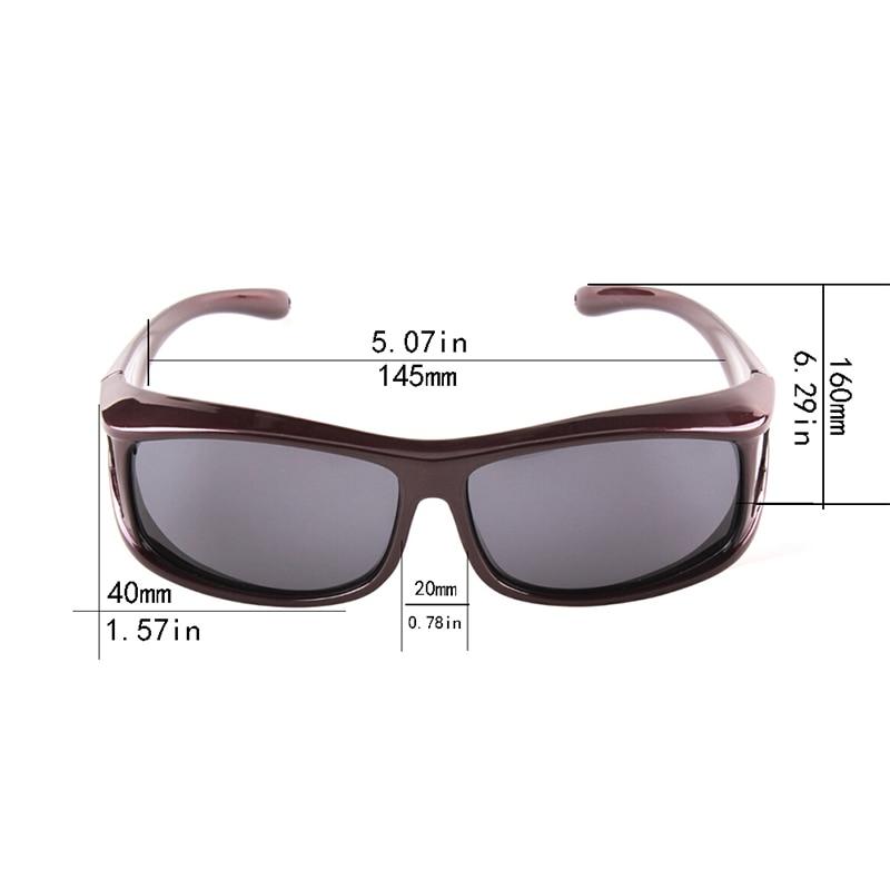 Gratis verzending Gepolariseerde zonnebril UV400 fit over bril - Visvangst - Foto 3