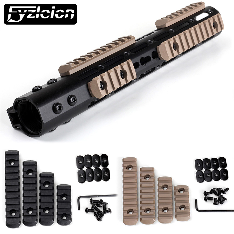 Multipurpose Polymer Picatinny Rail Section Kit L5 L4 L3 L2 Sizes For Tactical AR 15 Rifle Accessory Handguards image