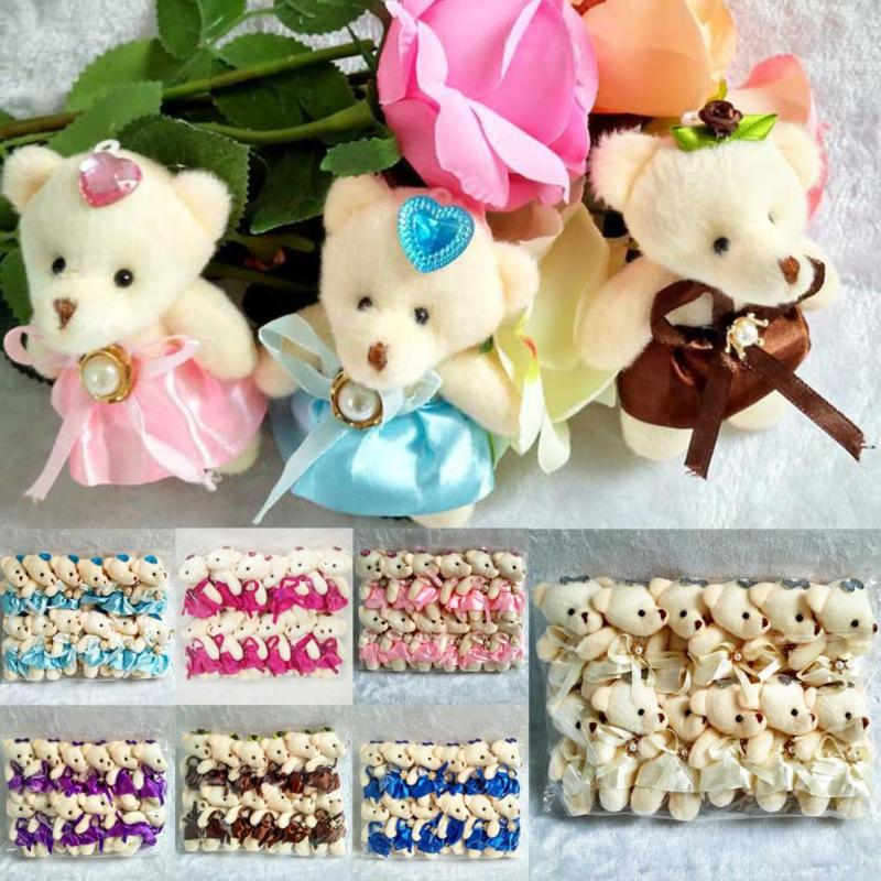 12pcs/set baby kids plush doll Cute adult bouquet decor Dressing Bear Doll for children gift Girls living room decor toys R4