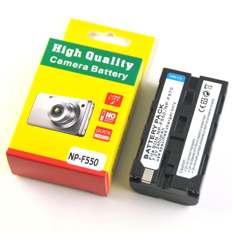2400mAh NP-F550 NP F570 F550 F530 Camera Battery For SONY HD1000C 198P 190P 2100E Z1C 5C 7C LED