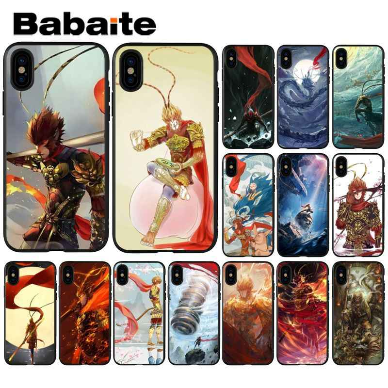 Babaite Monkey King Sun Wukong Coque Shell Phone Case for iPhone 6S 6plus 7 7plus 8 8Plus X Xs MAX 5 5S XR