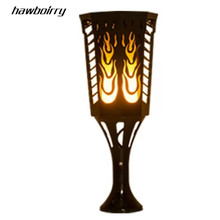 HAWBOIRRY Solar LED Flame Lamp Waterproof Lawn Dancing Flicker Torch Lights Outdoor Garden Path Decoration Landscape Lights solar led flame flashing lawn lights quality creative new year garland waterproof outdoor landscape street garden lamp yy 9605 5