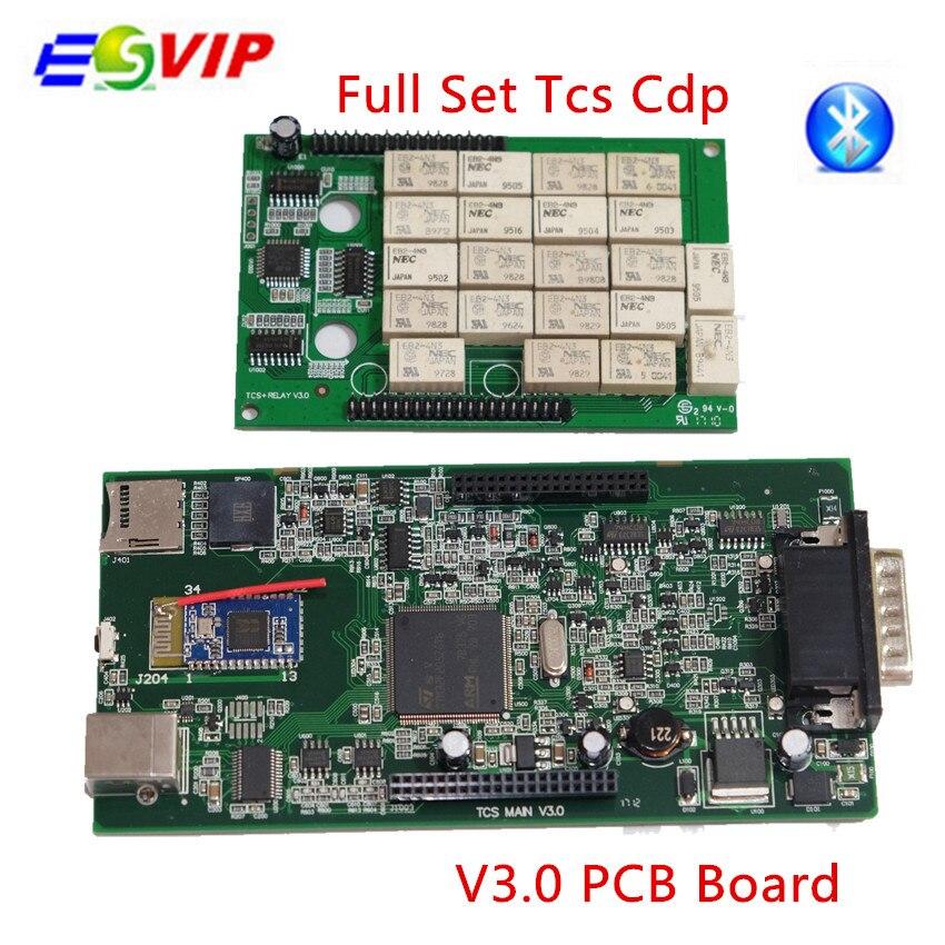 2018 nouvelle arrivée 10 pcs/lot NEC V3.0 Conseil TCS CDP pro Nouveau VCI 2014 R2/2015. R3/2015. R1 tcs cdp pro avec/sans bluetooch