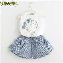 Menoea-2017-Brand-New-Summer-Style-Girl-Clothing-Sets-Kids-Clothing-Sets-Sleeveless-White-T-shirt