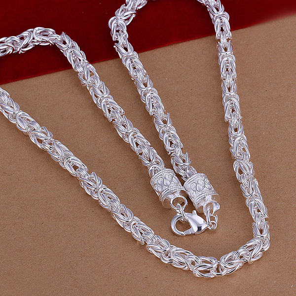 925 Sterling Silver Plate Fashion Women BIG Heart Pendant Necklace Chain Jewelry