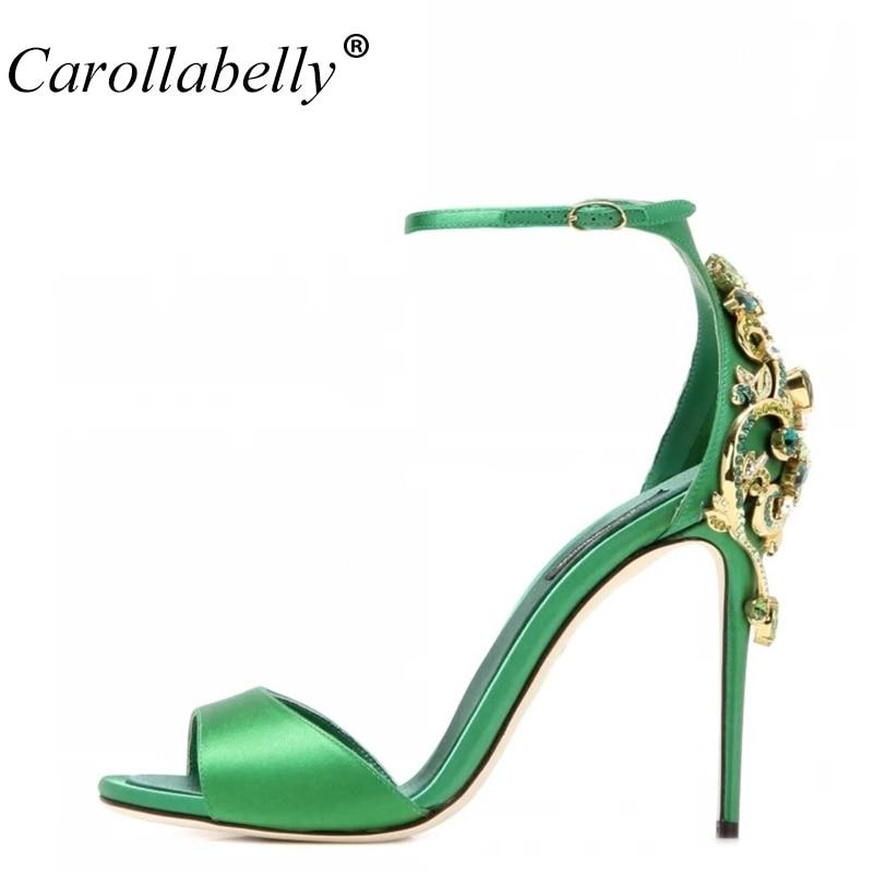 2018 New Women Summer Shoes Luxury Rhinestone Sexy Sandals Women High Heels Fashion Open Toe Wedding Party Shoes