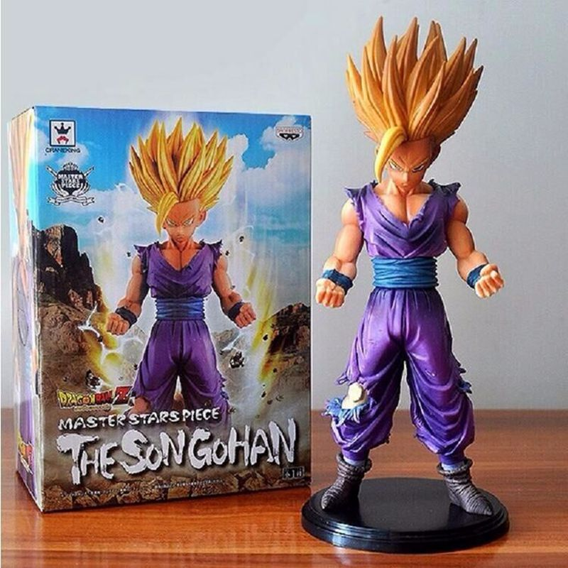 23cm Anime Dragon Ball Z Son Goku PVC Action Figures Son Gohan Super Saiyan dragonball z Collectible kids toys Original box mink skullies beanies hats knitted hat women 5pcs lot 2299