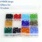 Mixed Colors lots of Set Beads Crystal Class Beads Miyuki Beads Bicone Square Round Rondelle Parts to Make Jewelry DIY Bracelets