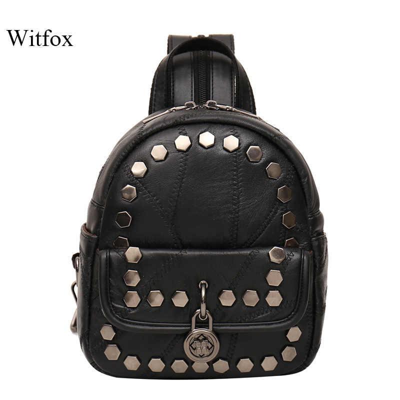 Многофункциональный металлический женская сумка с заклепками мини-рюкзак и сумка транспорт Студенческая книга для путешествий в стиле панк