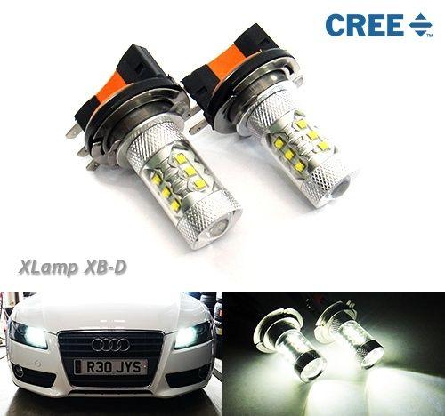 2х Н15 64176 Лампа Cree СИД 80W фары дневного света DRL Белый Ауди Фольксваген(CA210)