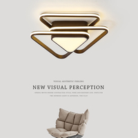 Современный простой светодиодный лампы творческий светодиодный Потолочные светильники для гостиной Алюминий потолочный светильник Спаль