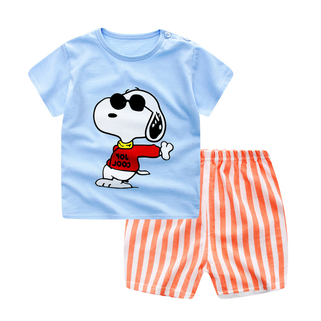 Summer Baby Short Sleeve For Clothing Boys And Girls Cotton Underwear Suit For Children Two Clothes Sets For Babies 3
