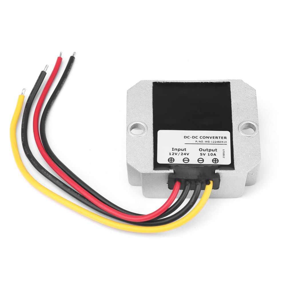 50W 10A DC-DC12//24V to 5V Buck Converter Adjustable Power Module IP68