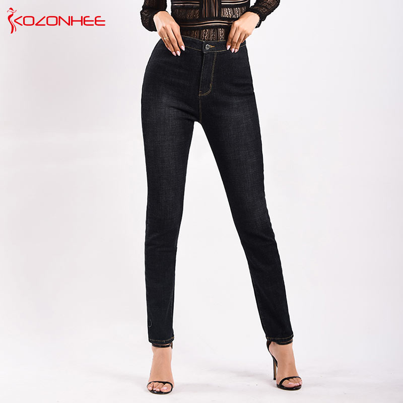 Fashion Stretch Thick Pencil Women High Waist Jeans Plus Size Elasticity Camo women Skinny Jeans